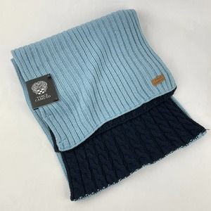 Vince Camuto Knitted Blue Double Sided Scarf